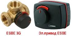 Оборудование для систем отопления 3х ходовые смесительные клапана ESBE под электропривод (сервопривод)