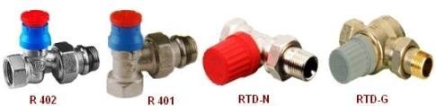 Оборудование для систем отопления Клапаны термоcтатические проходные