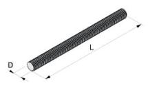 Метизы шпилька DIN 975