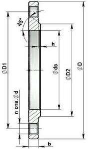 Фланцы Фланцы стальные плоские приварные Ру6 Ст20 ГОСТ 12820-80